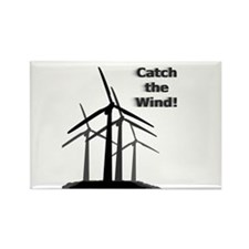 Catch the Wind Rectangle Magnet