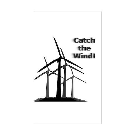 Catch the Wind Rectangle Sticker
