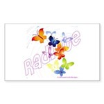 Radiate Rectangle Sticker 10 pk)