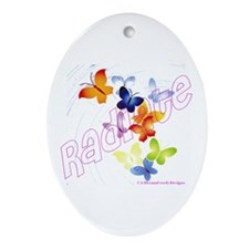 Radiate Oval Ornament
