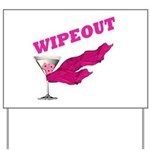 Wipeout Dice Game Yard Sign