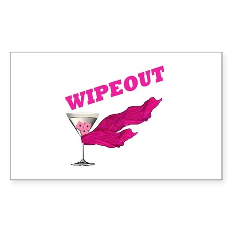 Wipeout Dice Game Rectangle Sticker