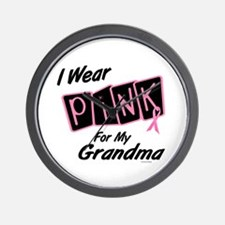 I Wear Pink For My Grandma 8 Wall Clock