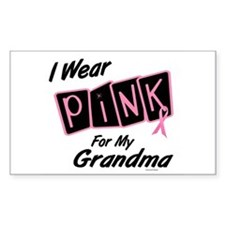 I Wear Pink For My Grandma 8 Rectangle Decal