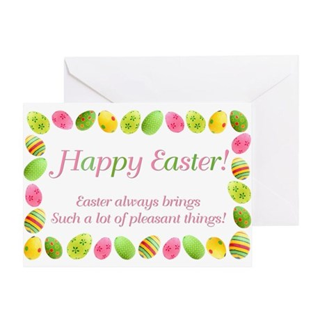 Easter Egg Border Greeting Card