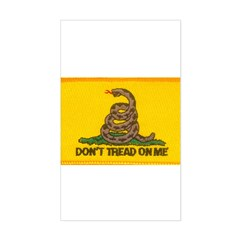 Don't Tread on Me! Rectangle Decal