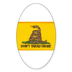 Don't Tread on Me! Oval Decal