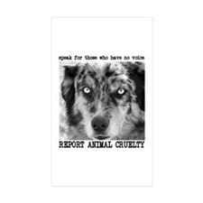 Report Animal Cruelty Dog Rectangle Sticker 10 pk