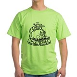 Funny pig Green T-Shirt
