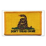Don't Tread on Me! Rectangle Sticker 50 pk)