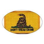 Don't Tread on Me! Oval Sticker (50 pk)