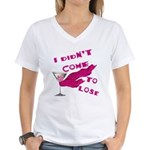 Didn't Come To Lose (2) Women's V-Neck T-Shirt