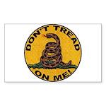 Don't Tread on Me-Circle Rectangle Sticker