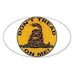 Don't Tread on Me-Circle Oval Sticker (50 pk)