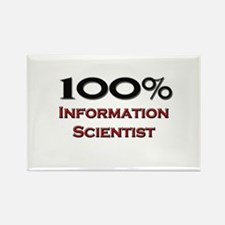 100 Percent Information Scientist Rectangle Magnet