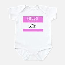 Hello My Name is Liz Infant Creeper