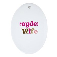 Brayden's Wife Oval Ornament