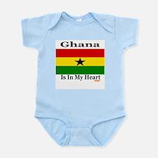 Ghana - Heart Infant Bodysuit
