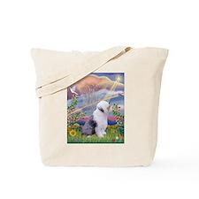 Cloud Star & Old English Tote Bag