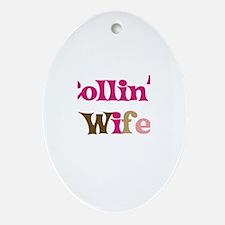 Collin's Wife Oval Ornament