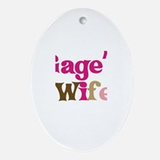 Gage's Wife Oval Ornament