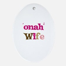 Jonah's Wife Oval Ornament