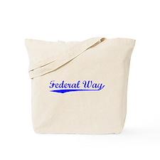 Vintage Federal Way (Blue) Tote Bag