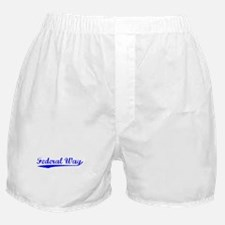 Vintage Federal Way (Blue) Boxer Shorts