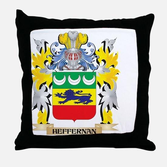 Heffernan Coat of Arms - Family Crest Throw Pillow