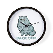 Back Off! Cat Wall Clock