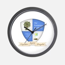 Our Fourpence Worth Crest Wall Clock