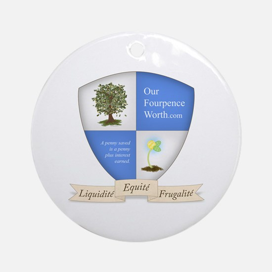 Our Fourpence Worth Crest Ornament (Round)