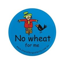 """No Wheat for me - allergy ale 3.5"""" Button"""