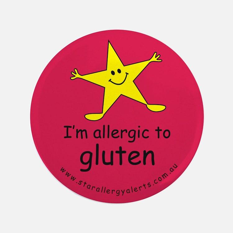 """allergic to gluten 3.5"""" Button"""
