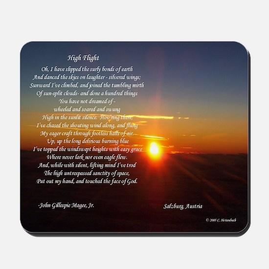 High Flight Austria Sunrise Mousepad