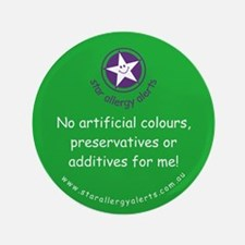 "No Artificials 3.5"" Button"