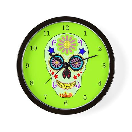 SUGAR SKULL Designer Wall Clock