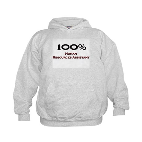 100 Percent Human Resources Assistant Kids Hoodie
