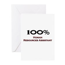 100 Percent Human Resources Assistant Greeting Car