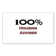 100 Percent Housing Adviser Rectangle Decal