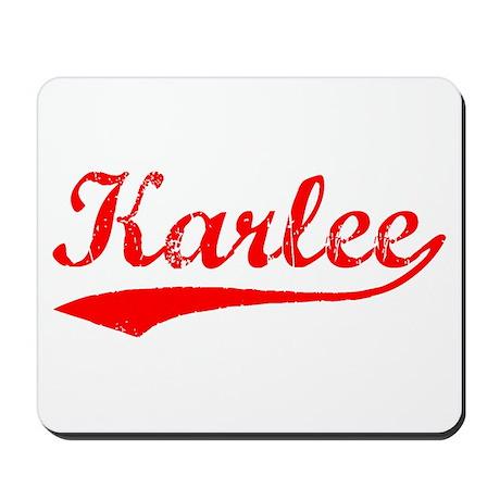 Vintage Karlee (Red) Mousepad