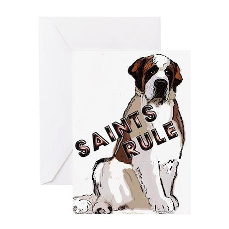 Saints Rule Greeting Card