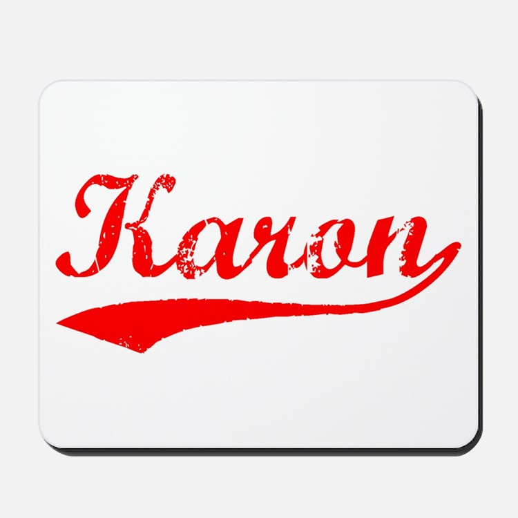 Vintage Karon (Red) Mousepad