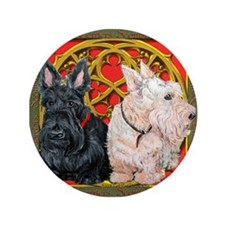 """Scottish Terriers Celtic Dogs 3.5"""" Button"""