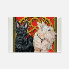 Scottish Terriers Celtic Dogs Rectangle Magnet