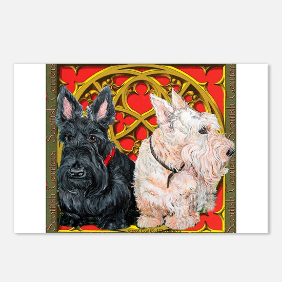 Scottish Terriers Celtic Dogs Postcards (Package o