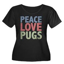 Peace Love Pugs T