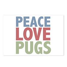 Peace Love Pugs Postcards (Package of 8)