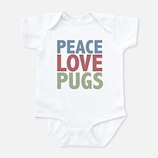 Peace Love Pugs Infant Bodysuit