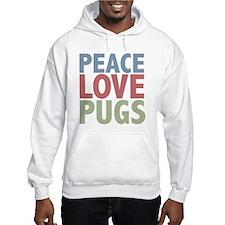 Peace Love Pugs Hoodie